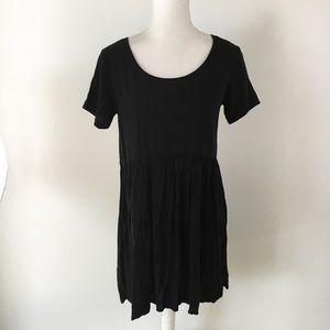 Brandy Melville black babydoll mini dress one size